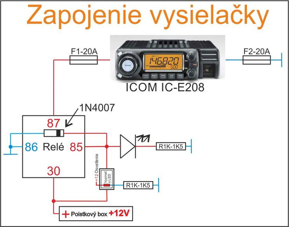 Seat Altea XL - Zapojenie vysielačky Icom IC-E208_028